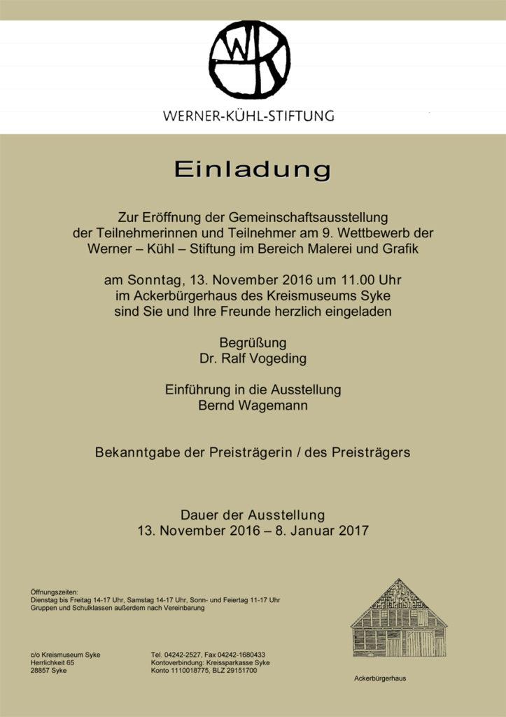 Einladung Gemeinschaftsausstellung