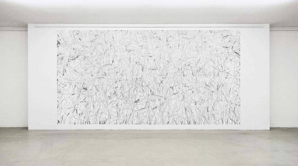 《精准限度》300x600cm,铅笔墙面,2018副本